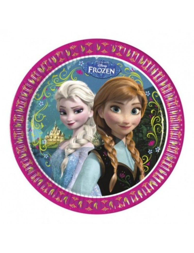 Disney Frozen Elsa Anna  party paper tableware  plates 23cm U71600 REDUCED TO CLEAR