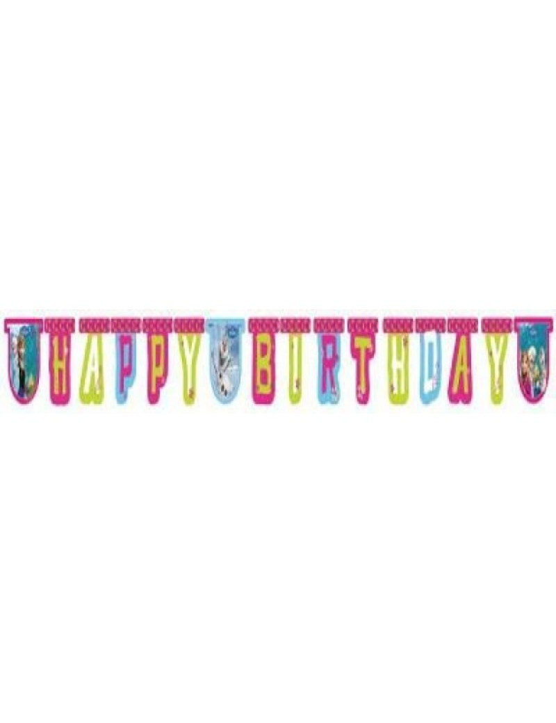 Disney Frozen happy Birthday card banner  party room decoration U71638 REDUCED TO CLEAR