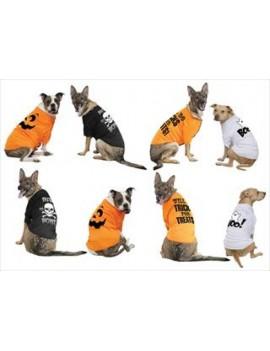 Dog pet Halloween fancy dress costume party t-shirt black BAD TO THE BONE Palmer Agencies 3860