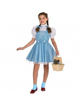 Dorothy Wizard Of Oz girls deluxe fancy dress party book day Hollywood costume Rubies 886494