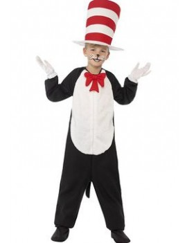 Dr Seuss Cat In The Hat boys girls fancy dress costume party book day Smiffys 27538