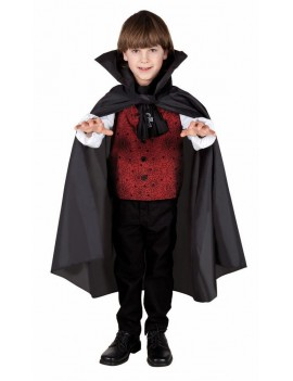Vampire Cape Black Kids 75cm