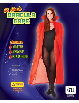 "Vampire cape Red 56"" Bristol Novelty AC102"