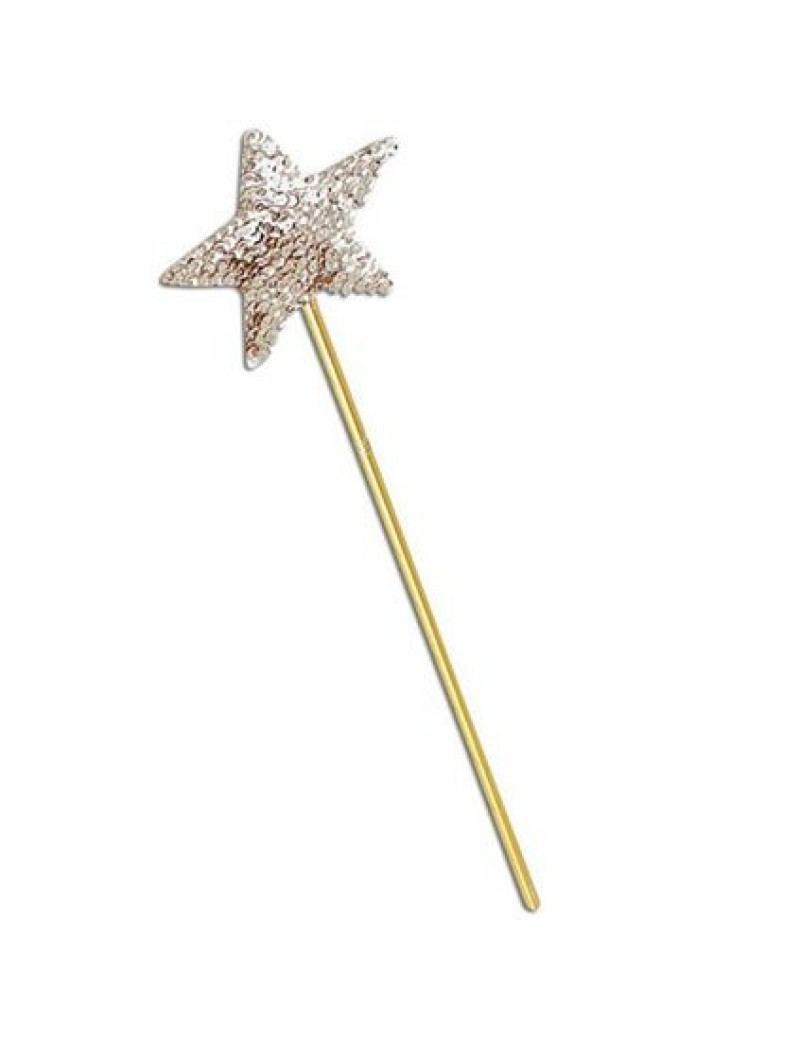Fairy fancy dress costume party accessory costume prop wand gold sequin Bristol Novelty BA216