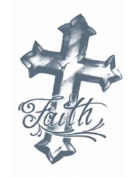 Prison Faith Cross temporary tattoo Tinsley Transfers PR-310
