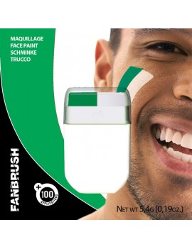 Fan Brush Green White Football Rugby Irish Sports face paint make up Palmer Agencies 2500C