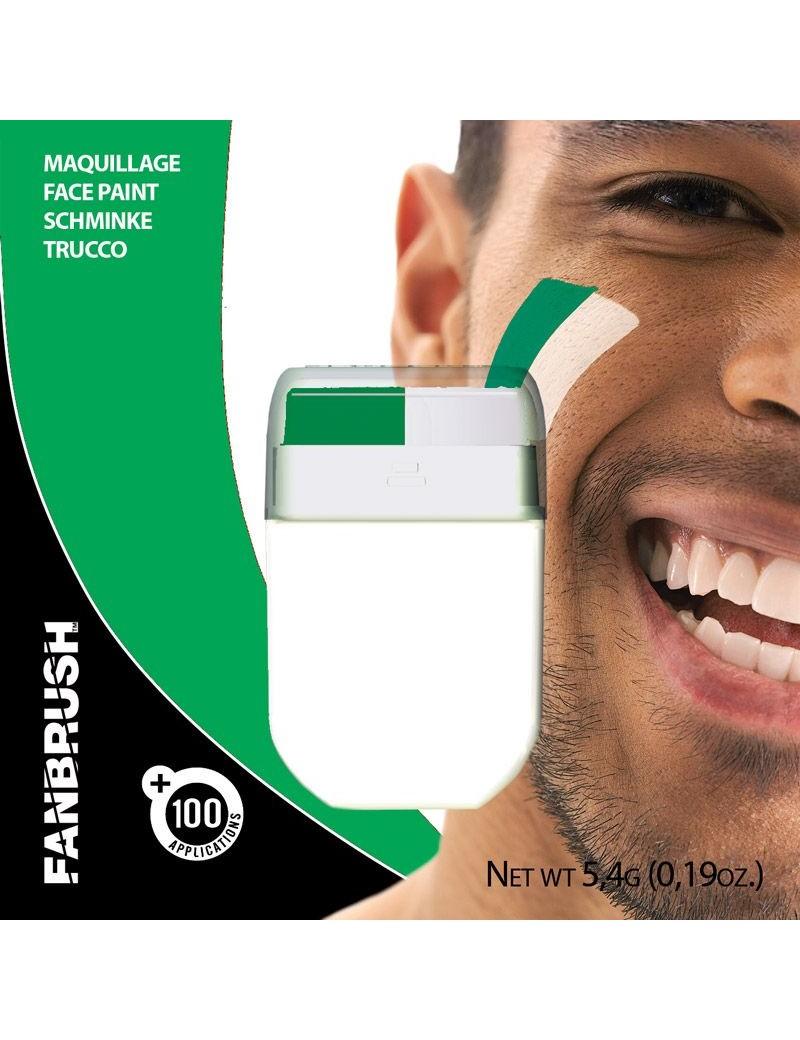 Fan Brush Green White Football Rugby Irish Sports face paint make up Palmer Agencies 2500C