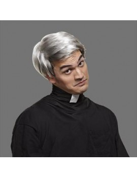 Father Ted 90s  comedy priest old man grey mens tv costume party wig Palmer Agencies 5413