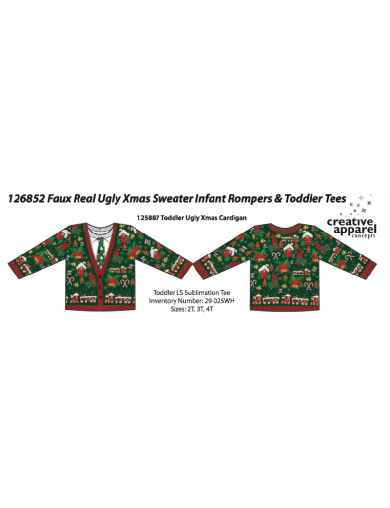 Ugly Christmas jumper costume Creative Apparel 125887