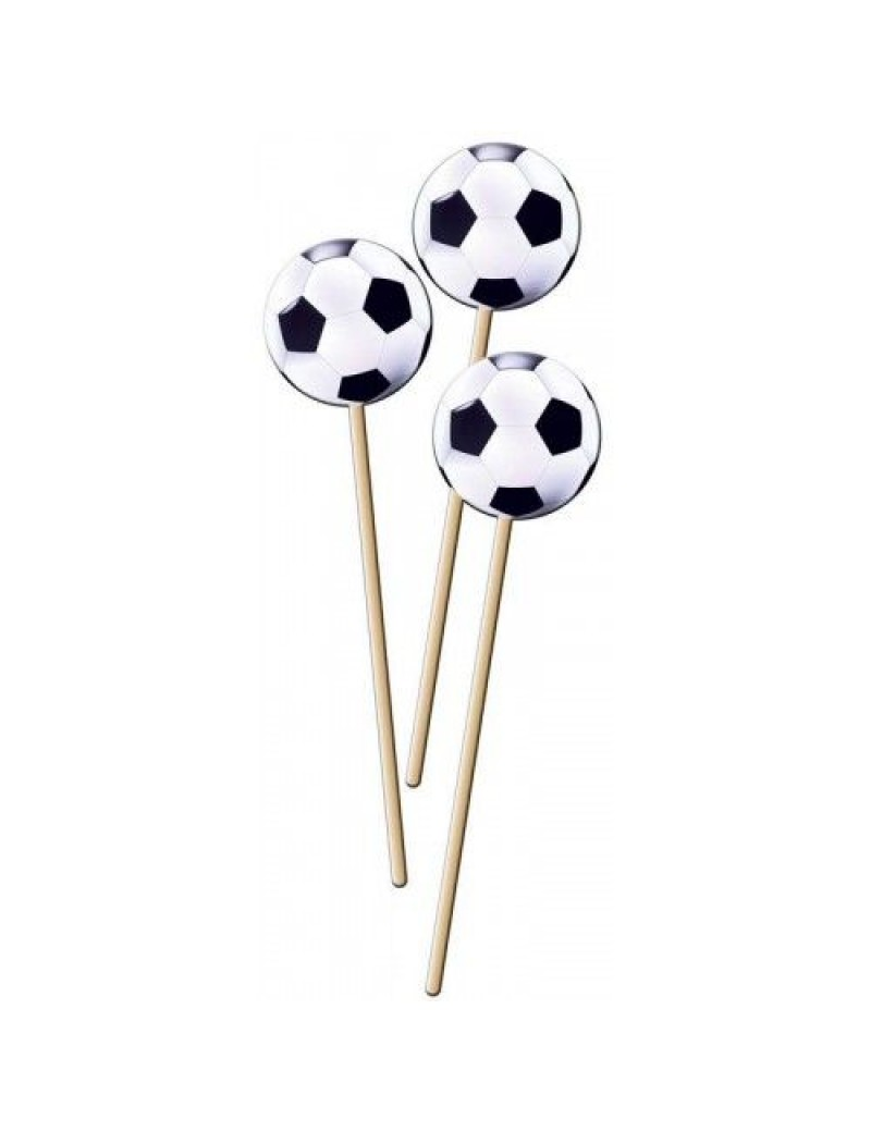 Football Soccer BBQ party food cupcake muffin tableware   sticks picks Folat FO-26220