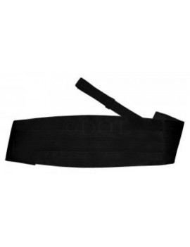 Bow Tie And Cummerbund Set Black