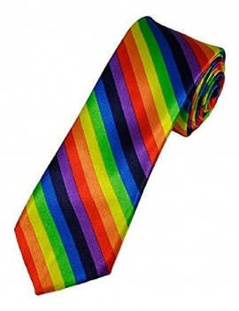 Gay Pride Striped Tie 36673