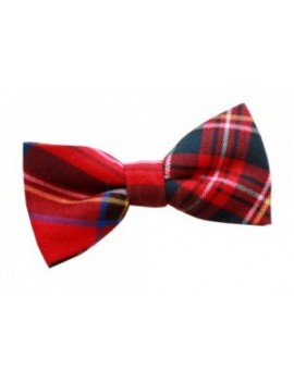 Formal Red Royal stewart tartan cotton bow tie mens Hogmanay Brad Rocky horror masquerade ball menswear Scottish accessory DQT