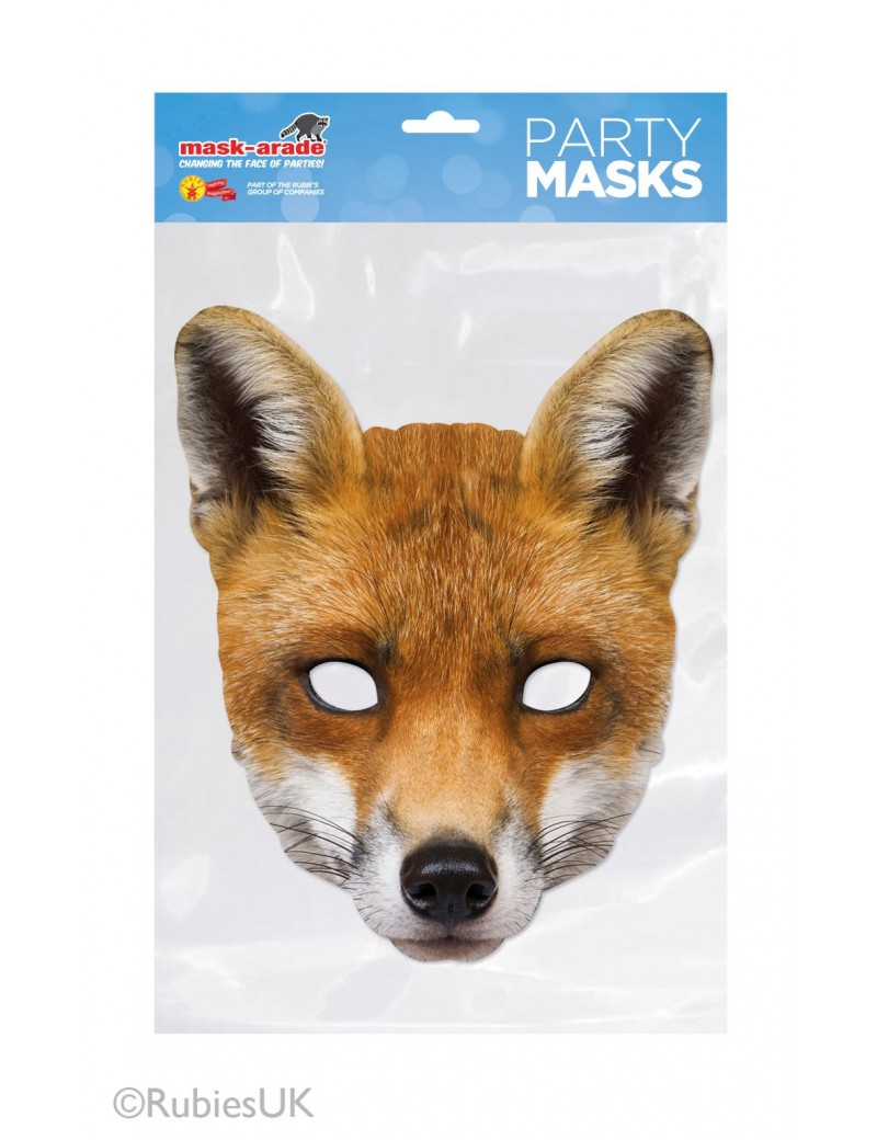 Fox animal deluxe fancy dress girls boys book day costume party elasticated card mask Mask-arade