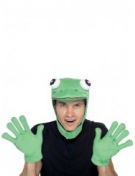 Frog instant fancy dress accessory costume party animal amphibian set kit Smiffys 22164