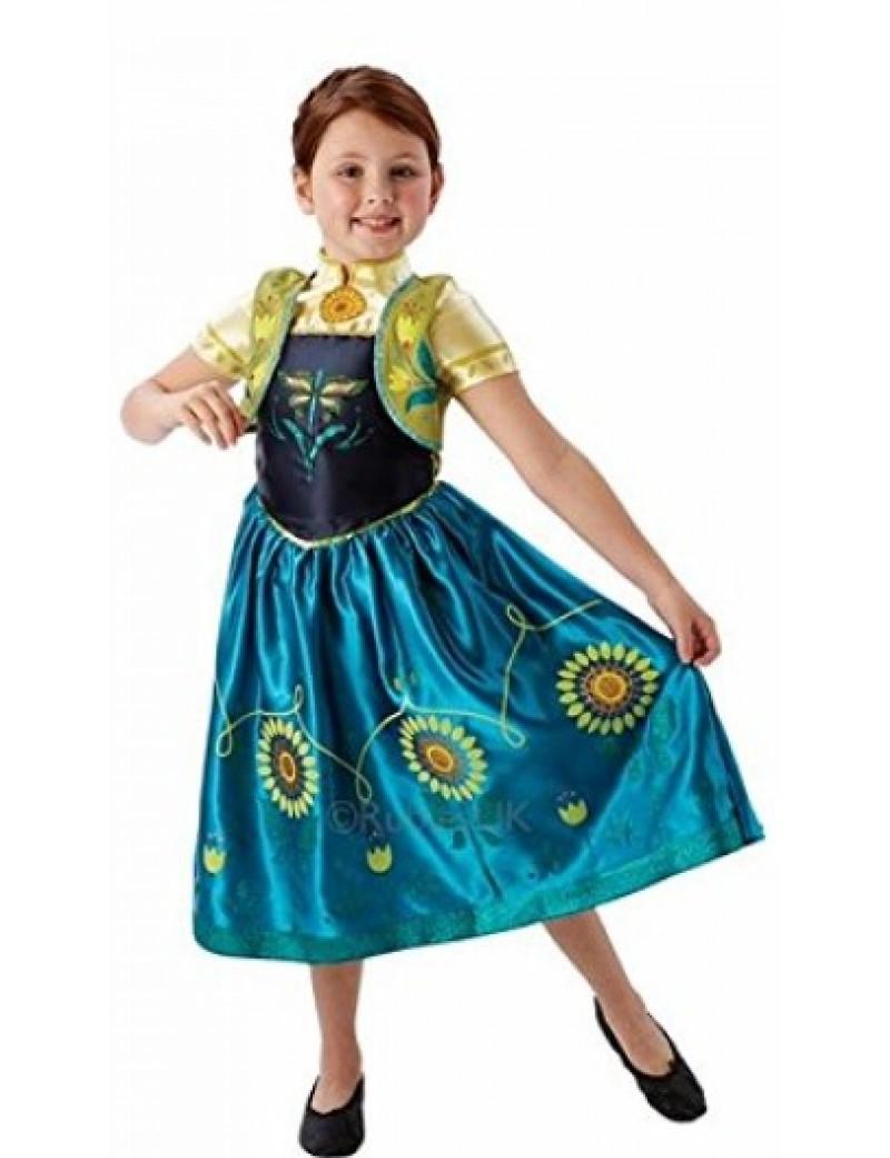 Frozen Fever Anna Disney deluxe girls fancy dress tv film movie Christmas costume party Rubies 610903
