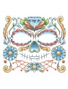 FX Face Candy Skull Temporary Tattoo