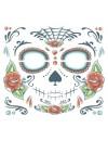 Face Sugar Skull temporary tattoo Tinsley Transfers CT412