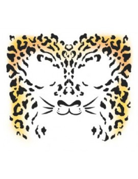 Face Cheetah temporary tattoo Tinsley transfers FC-500