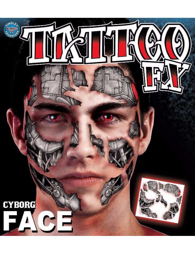FX Face Cyborg Temporary Tattoo