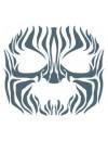 Face Tribal Zebra temporary tattoo Tinsley Transfers FC-502