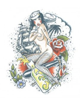 Extra Large Sailor temporary tattoo Tinsley Transfers XL705