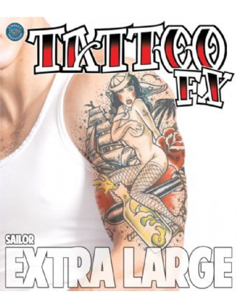 Extra Large Sailor temporary tattoo Tinsley Transfers XL705