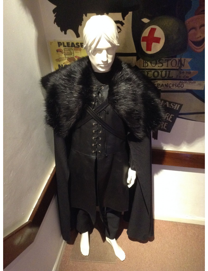 Game Of Thrones Jon John Snow mens fancy dress tv book character hire deluxe rental hero costume Make Believe