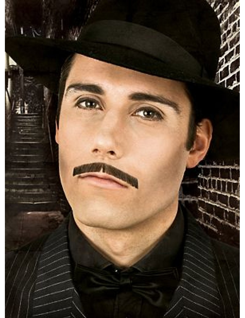 Gangster Gatsby real hair professional theatrical mens 1920s,1930s 1940s style moustache Metamorph 103060