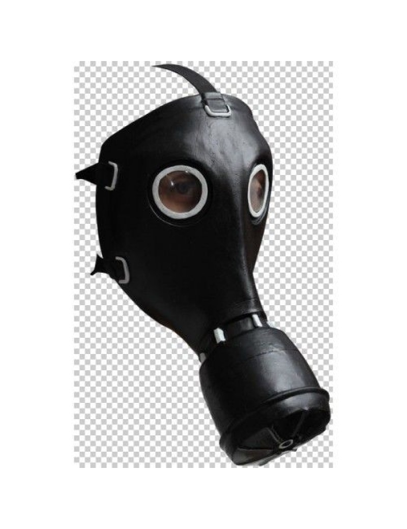 Gas mask full face rubber Steampunk costume Halloween party accessory Ghoulish Productions GH-26519