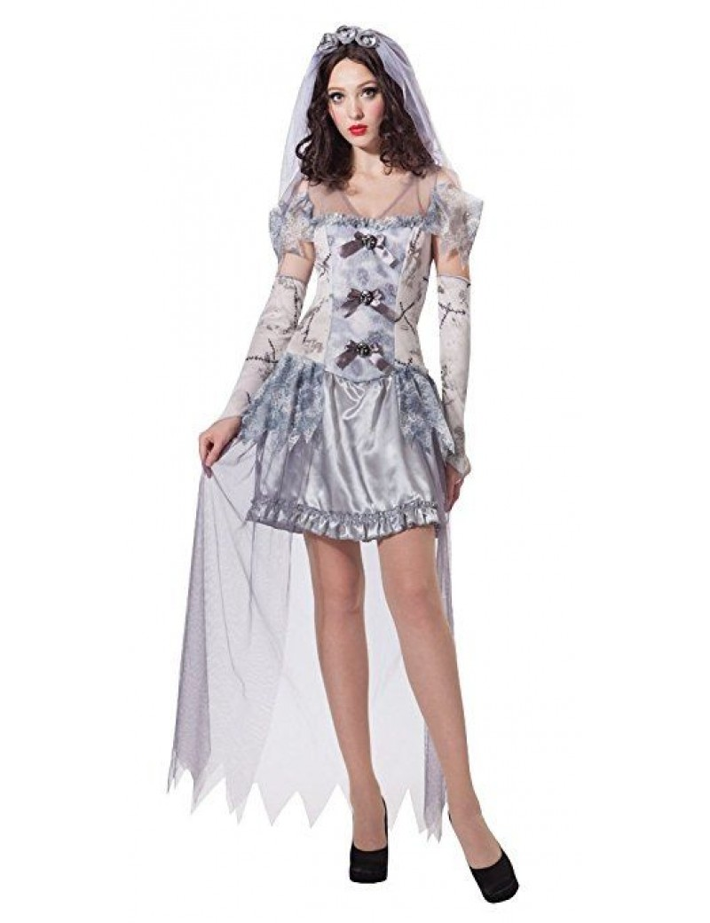 Ghost Bride womans Halloween fancy dress party Bristol Novelty AC123