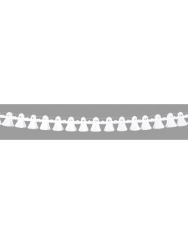 Ghost paper hanging Halloween garland  party room decoration 4 metres Boland 5931A