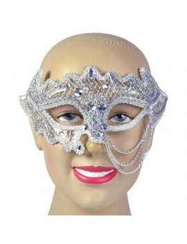 Eye mask Siver Chains Bristol Novelty EM689