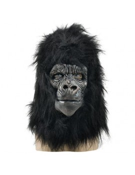 Gorilla full over head rubber mask deluxe fancy dress costume party BM