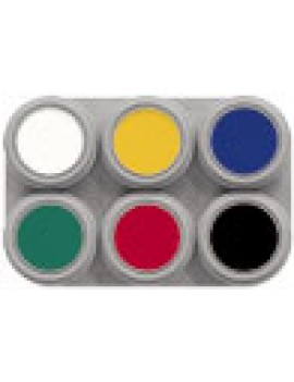Grimas 6 Colour Water Palette Pure