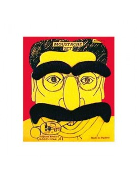 Groucho Marx stick on false moustache eyebrows set  Hollywood costume party Steptoes 14537