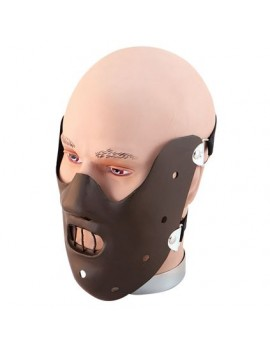 Hannibal Lector fancy dress costume tv film party Halloween full muzzle plastic mask deluxe Bristol Novelty PM100