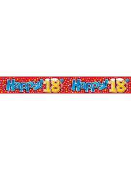 Happy birthday 18th room hall decoration garland  costume party plastic banner Expression Factory EQA104