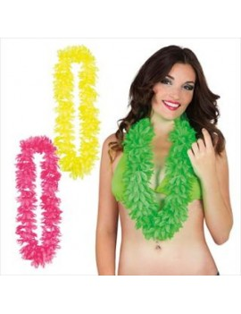 Hawaiian beach party fancy dress costume Konani leis garland assorted neon colours 100cm Palmer Agencies 4487A