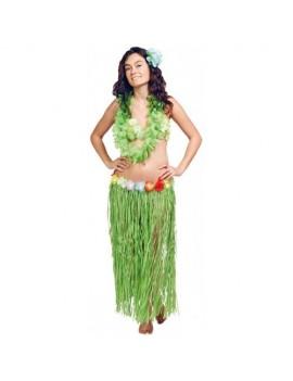 Hawaiian hula grass skirt Green 80cm Caribbean beach party Folat FO-20521