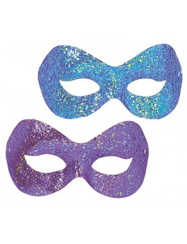 Hollywood glitter eye mask blue azure purple masquerade masked ball costume party Palmers 0162A