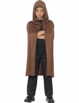 Hooded Cape Brown Smiffys 44200