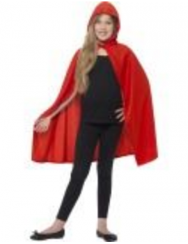 Hooded polyester Red Riding Hood cape girls boys Superhero fancy dress Fairy tale costume party accessory Smiffys 44560