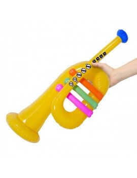 Inflatable blow up prop yellow trumpet costume party prop Creative Collection FO-20256