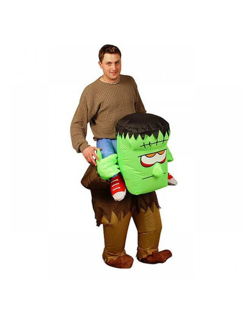 Inflatable Frankensteins Monster mens carry me ride on adult Halloween party Costume