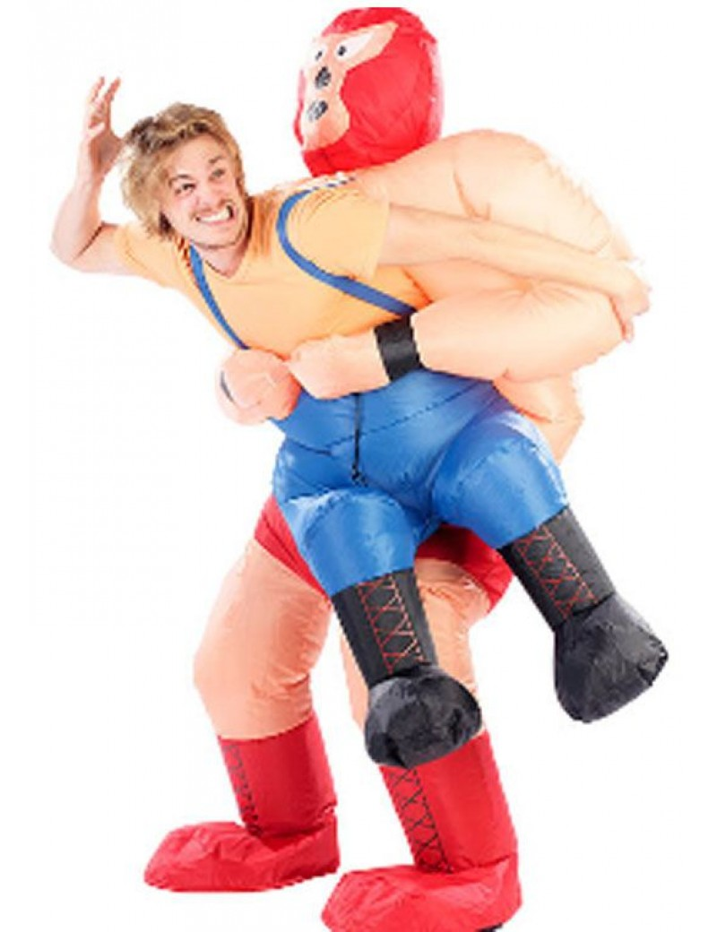 Inflatable  Mexican Wrestler Mens pick me up Novelty Costume