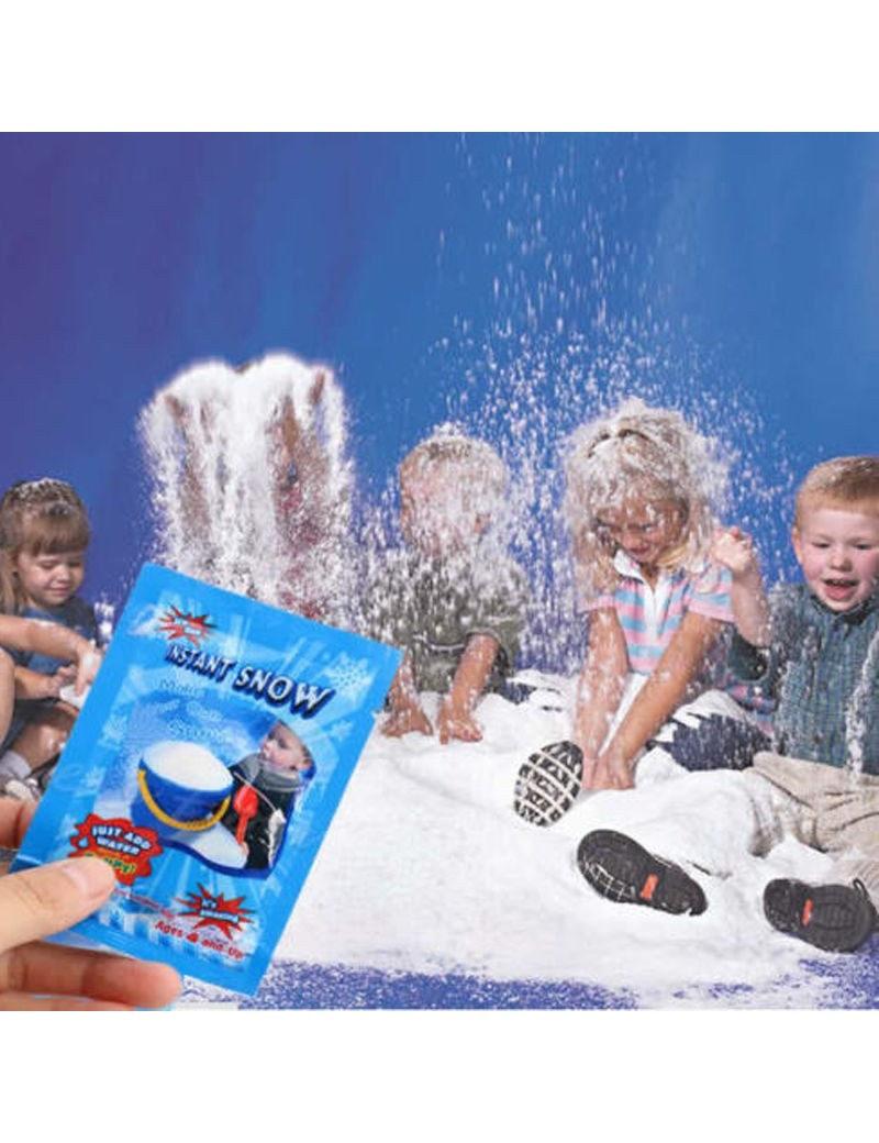 Instant Fake Artificial Snow Powder Granules Christmas novelty room decoration