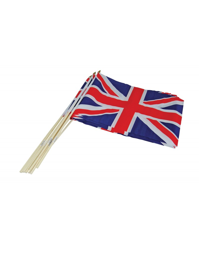 Union Jack British plastic hand flags  fancy dress party  table decoration Bristol Novelty PG035