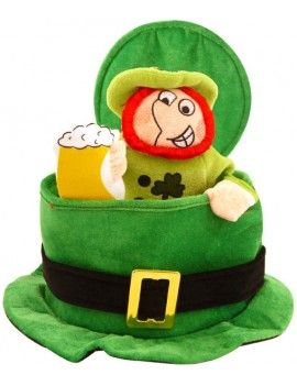 Irish St Patricks day  party Leprechaun top hat Henbrandt 64040