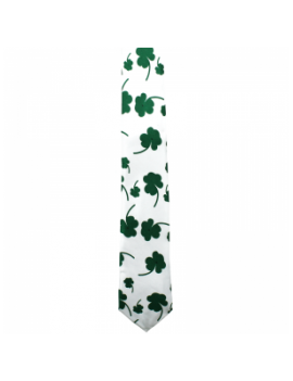 Irish St Patricks Day Shamrock Clover leaf mens tie 76043